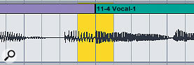 The highlighted area shows where I want to make a crossfade.