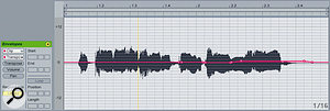 More subtle breakpoint editing can be used to correct poor tuning in vocals.