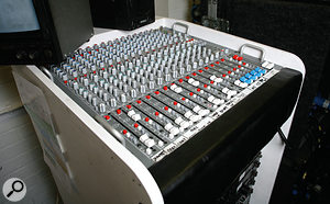 This Crest 12-channel mixer is used for the presenter mics and VT (videotape) playbacks on TOTP.