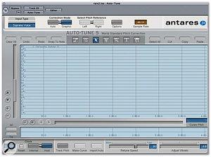Auto-Tune's Graphic mode display.