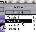 For gating overhead mics from the snare track, use the Noise Gate plug-in and set its side-chain to be fed from the snare track.