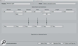 These settings removed spill from my snare track.