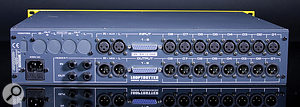 On the rear panel, not only are you greeted with both XLR and D-sub options for the analogue channel I/O, but you have mic outputs and astereo aux input for cascading multiple units, or sending aclean stereo stem to the mix bus.