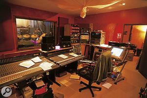 The control room at Racket Club Studios.