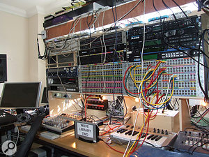 What looks at first glance like a gigantic modular synth is actually a gigantic, er, patchbay.