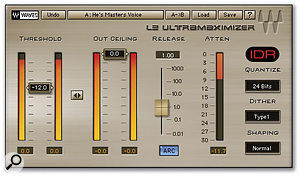 A loudness-maximising limiter such as Waves L2 can increase the overall level of your mastered track with surprisingly few audible artefacts.