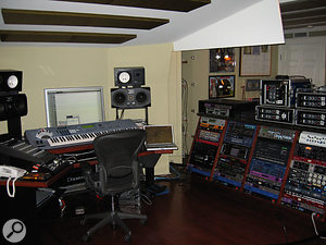 A Mac G5 / Pro Tools rig provides the main recording setup.