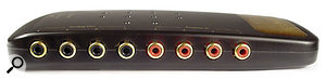 The Maya 44 USB features four-channel analogue I/O, as well as a stereo optical digital output.