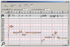 The MDD Editor window allows detailed control of Melodyne's pitch and timing recognition process for a particular file, including specifying a specific scale.