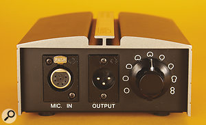 The CV4's power supply doubles up as the polar-pattern selector.