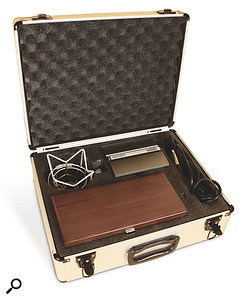 The CV4's wooden box nestles in a hard case that also houses the PSU and included accessories.