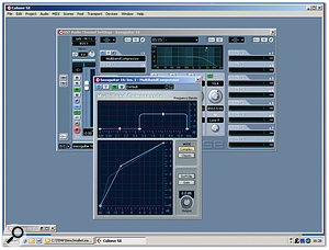 In order to control the bass levels on different playback systems, the recording was compressed in two bands, crossing over at 500Hz. Overall this processing made the sound brighter, which emphasised some background noise, so a high-cut filter at around 4.5kHz was employed to make this less obtrusive.