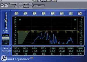 A little low-end popping on the lead vocal was easily dealt with using low-frequency EQ cut, and a decibel or two of lift at 9.6kHz increased the feeling of 'air' around the singer.