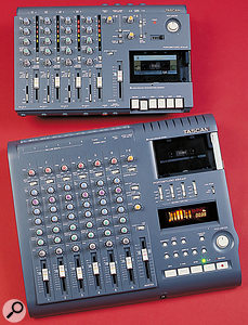 Different machines are not always compatible, even those from the same manufacturer. These two Tascam Portastudios, for example, were released at the same time but play at slightly different speeds even when they're in the same high-speed mode.