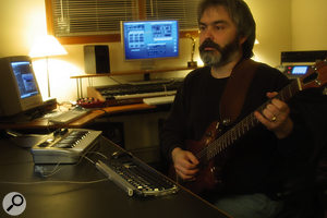 Author Bill Lacey in his studio.