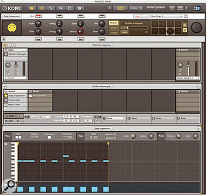 The built in Step Sequencer plug-in can act as a stand-alone sequencer, or be triggered and transposed from MIDI notes.