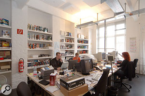 The graphic design and production team at NI's Berlin headquarters.