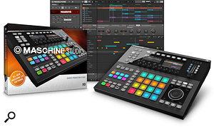 Maschine Studio hardware and Maschine 2.0 software