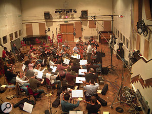 The main theme for 24: The Game was recorded in Abbey Road Studio 2, which, with its 'big but dead' acoustic, suited the fast string lines and dark atmosphere of the music.