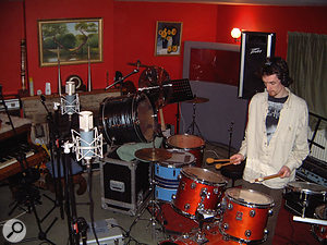 More conventional percussion was overdubbed at Nimrod from their large array of instruments.