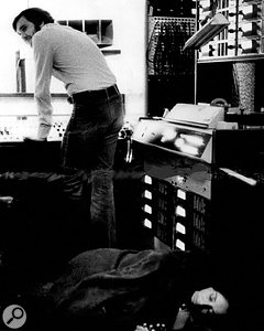 Norbert Putnam at Quadrafonic, with an unconscious Joan Baez.