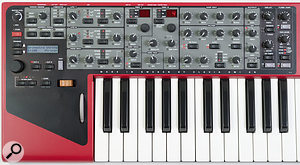 The Nord Wave's front panel embodies Clavia's pleasing 'physical controls whenever possible' philosophy.