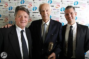 L-R Fran Nervkla (PPL), Sir George Martin CBE, Paul Epworth