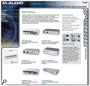 Like many manufacturers, M Audio have both USB 1.1 and Firewire audio interfaces in their mobile range. USB 1.1 is perfectly adequate for running a stereo in/out interface at the 24-bit/44.1kHz that most musicians still prefer, or 24-bit/96kHz for either recording or playback (but not both). Firewire is capable of running many more simultaneous channels if you need them.