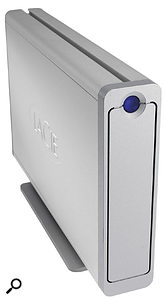 With an external FireWire or USB 2.0 hard drive, like the dual-format LaCie Big Disk model shown here, you can not only make backups from your internal hard drives, but also take the same drive round to your Mac-owning friends to share your project data.