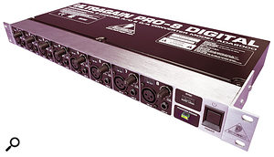 If you already have a spare pair of ADAT ports and need more analogue inputs and outputs, you can add eight of each by plugging in a suitable converter box, such as Behringer's ADA8000, shown here.
