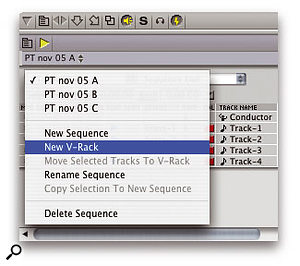 Using V-Racks In Digital Performer 4.6