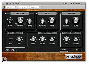 The new Bassline synth: simple, but surprisingly pleasing.