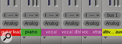 If you use track colour to your advantage, track grouping and routing in the Mixing Board becomes easier to understand at a glance.