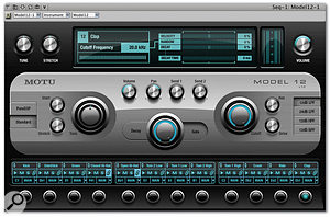The Model 12 drum-sound module. As well as being able to load 12 drum sounds and tune, stretch and filter them individually, Model 12 offers modulation facilities that make interesting drum parts easier to produce.