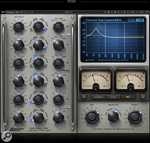 Waves RS56 EQ plug-in
