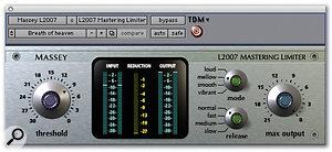 Massey L2007 Mastering Limiter.