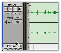 Pro Tools 7.3 lets you freely resize tracks by dragging the divider.
