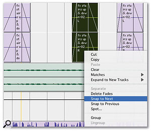 Pro Tools 7.3 also brings the comprehensive contextual menu system introduced with version 7.2 HD to LE users.