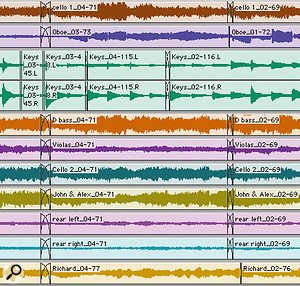 In a complex multitrack Session, you often get best results by using different edits and fades in different places on the various tracks.