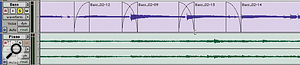A batch fade can be used to apply the same fade parameters to every Region boundary in a selection.