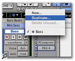 You can leave the original version of a track intact by copying it to a duplicate Playlist to apply off-line processing.