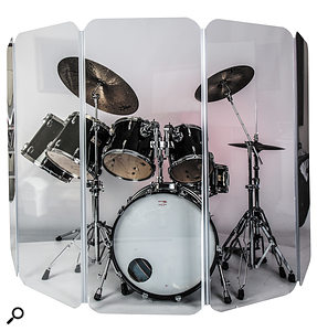 Perspex drum screens (such as this one by UK company Drumscreens) offer the advantage of a  clear line-of-sight, but can they also offer sonic advantages in the studio?