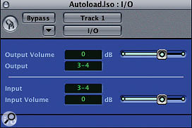 Logic's I/O plug-in lets you insert outboard gear using your interface's additional inputs and outputs.