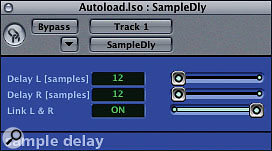 The Sample Delay plug-in in Logic does what it says on the tin, delaying the track down to sample level.