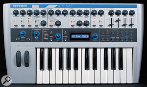 It's possible to imitate the string-synth chorus effect by using an LFO to modulate the tuning of the Novation K-Station's oscillators.