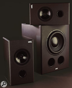 Because the EMES Black TV Active monitors are full-range speakers, when they're used with the Amber subwoofer, the crossover can be comfortably set at 80Hz rather than 120Hz.