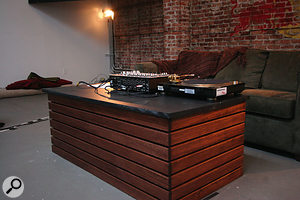 The RBMA's lecture theatre might be the only one in the world where the podium is equipped with decks.