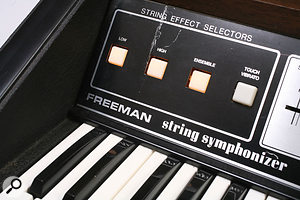 Among the innovations that Ken Freeman introduced in his string synthesizers was the use of an Ensemble effect.