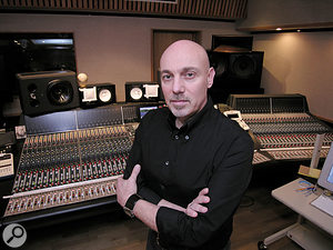 """Joe Chiccarelli: """"The White Stripes work extremely quickly, and expected me to be ready to record at any time, so I had several sets of room ambience microphones set up in the studio. When they began to play a song, I could quickly push up the faders and choose which microphones best suited the songs."""""""