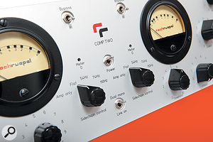 Flexible side-chain control: the Comp Two offers three side-chain low-cut filter frequencies and an additional 'amp only' mode.